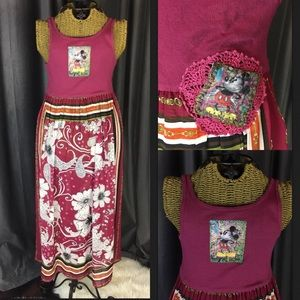 Disney World Mickey Mouse tunic Dress Floral